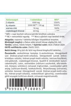 LenaVit C1000 + szerves cink + D3-vitamin /2000 NE/ + csipkebogyó