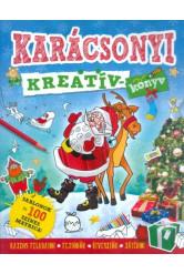 Karácsonyi kreatívkönyv /Sablonok és 100 színes matrica