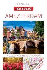 Amszterdam - Lingea felfedező /A legjobb városnéző útvonalak összehajtható térképpel