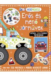 Mini művész: Erős és menő járművek - Játékos színezőkönyv matricákkal