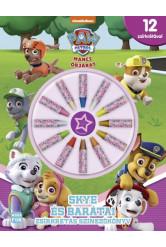 Mancs őrjárat: Skye és barátai - Zsírkrétás színezőkönyv