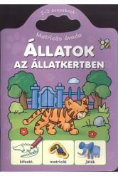 Állatok az állatkertben /Matricás óvoda 2-3 éveseknek