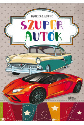 Szuper autók - Matricás kifestő