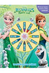 Jégvarázs - Party láz: Varázslatos színek (színezőkönyv)